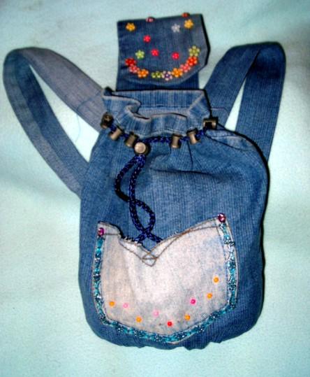 Рюкзаки из старых джинсов своими руками мастер