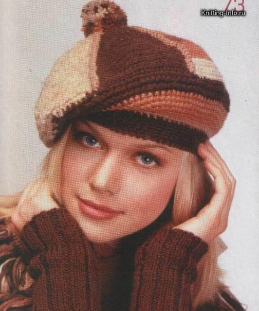 ажурные шапочки крючком для девочки