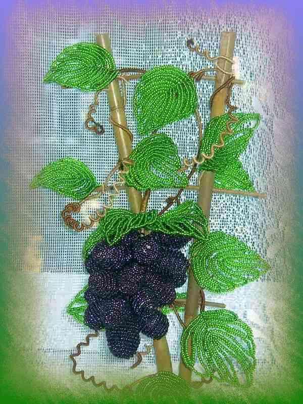Бисероплетение винограда
