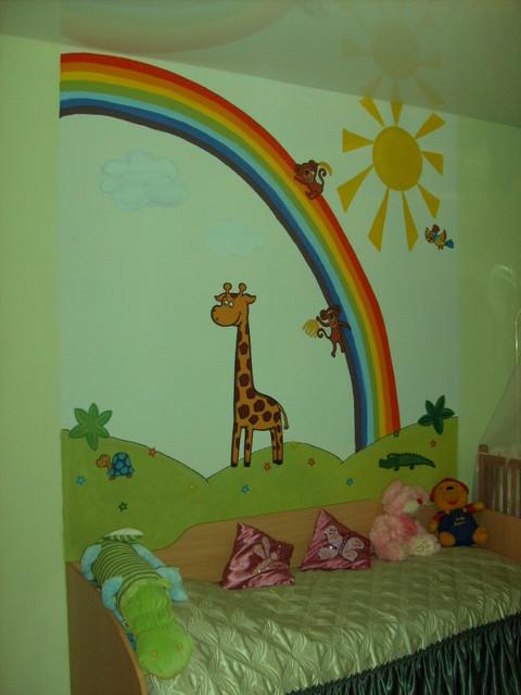 Рисунок своими руками в детской комнате