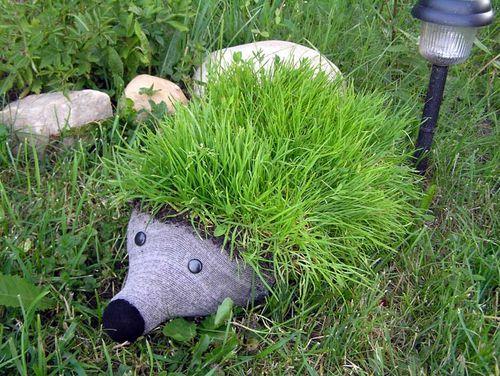 Ежик в сад своими руками