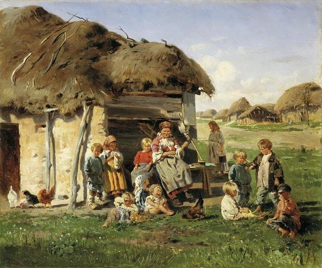 Материнство -> Семья и дети глазами художников