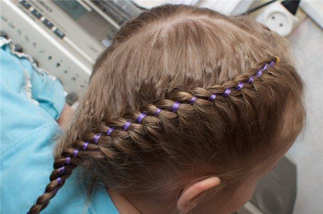 Освоила новый вид плетения кос :blush: , кому интересно напишу как это...