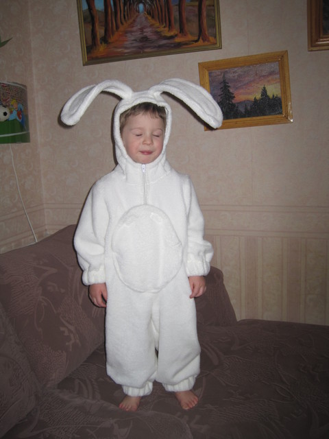 Как сшить костюм зайца