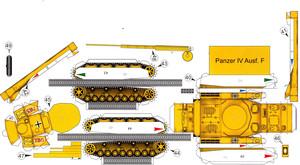 Схема бумажного танка.
