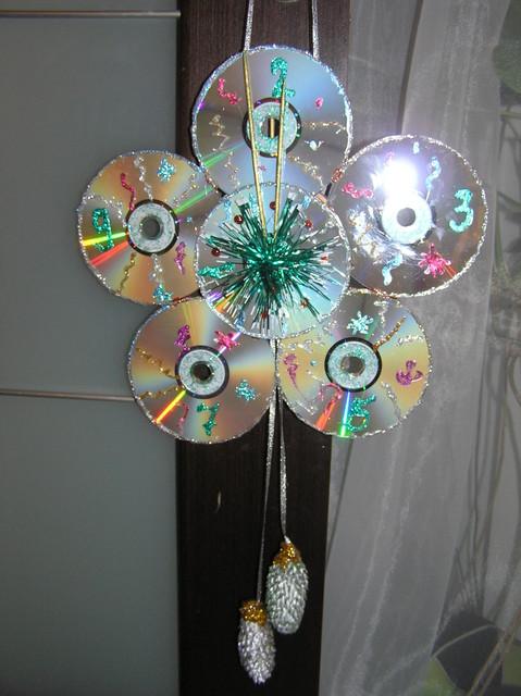 Украшения из дисков своими руками фото