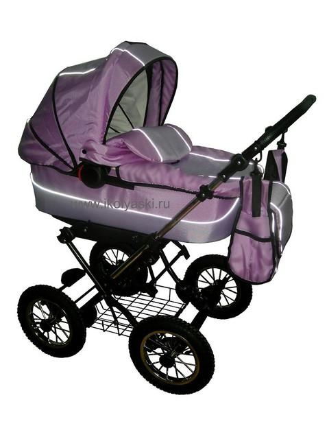 ...сиренево-розовая... только нет черных вставок на коляске и на сумке.