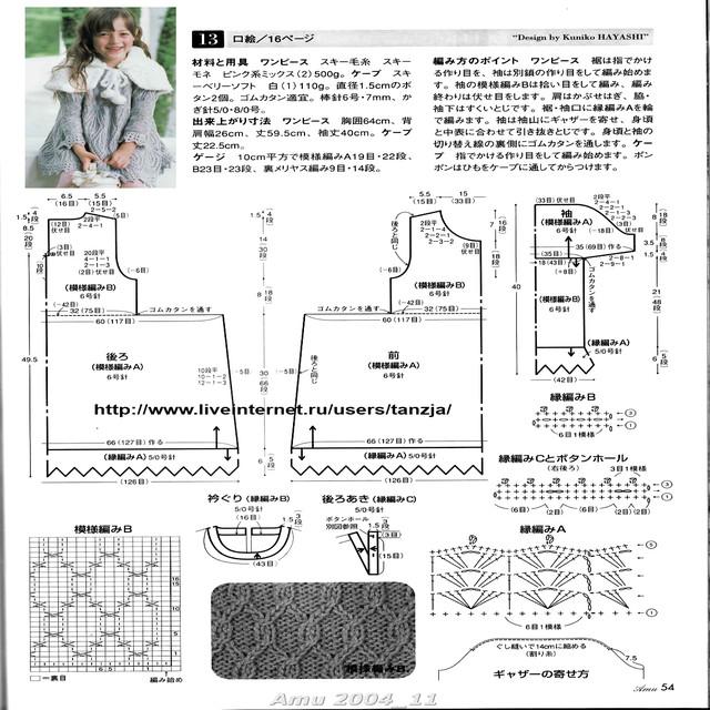 расшифровка схем вязания спицами.