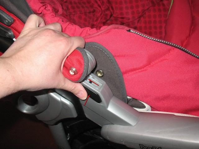 Как снять люльку с коляски peg perego