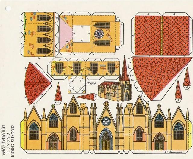 Замок из картона своими руками шаблон