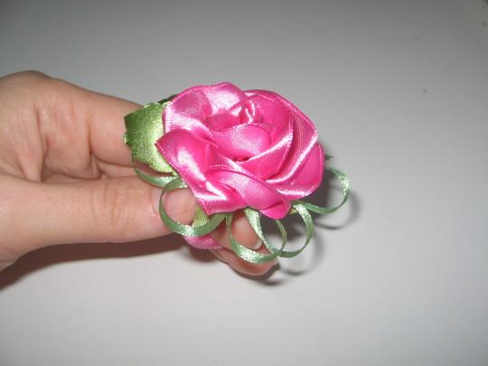 Розы банты из лент своими руками мастер класс 2
