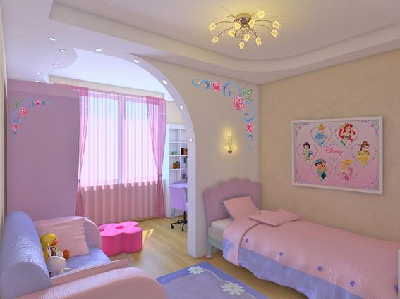 Фото дизайна детской комнаты для девочек