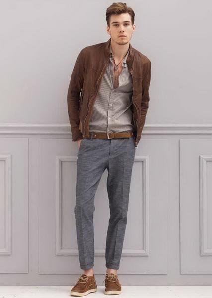 С чем носить темные мужские брюки