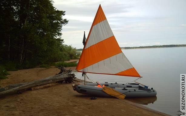 паруса для надувной лодке