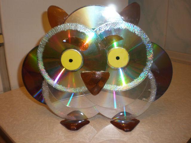Как сделать своими руками сову из дисков